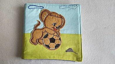 Hračky - Levík futbalista - textilná knižka - 13244350_