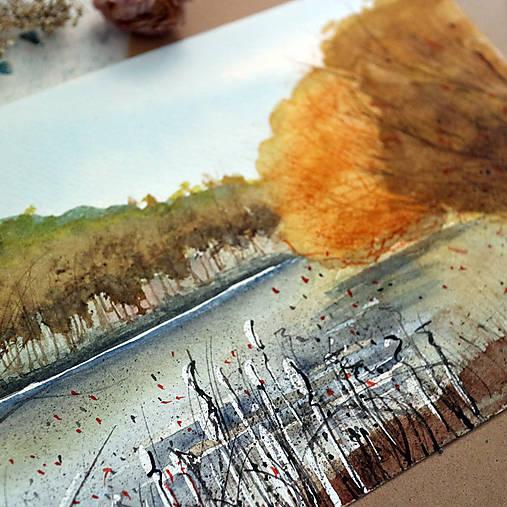 Na priehrade/akvarelový originál by Richie Bumpkin