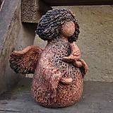 Dekorácie - Andělka jarní s ptáčkem - 13246152_