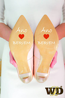 Papiernictvo - Nálepky na svadobné topánky - 13244115_