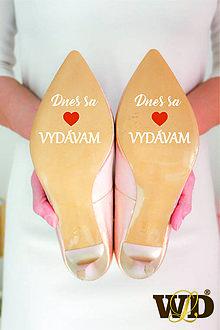 Papiernictvo - Nálepky na svadobné topánky - 13244122_