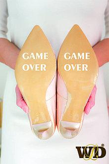 Papiernictvo - Nálepky na svadobné topánky - 13244126_