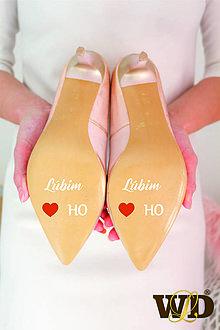 Papiernictvo - Nálepky na svadobné topánky - 13244135_
