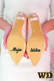 Papiernictvo - Nálepky na svadobné topánky - 13244139_