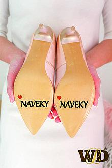 Papiernictvo - Nálepky na svadobné topánky - 13244150_
