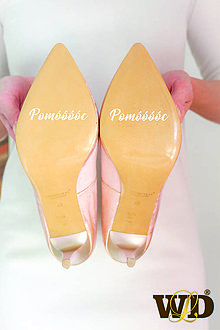 Papiernictvo - Nálepky na svadobné topánky - 13244160_