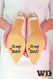 Papiernictvo - Nálepky na svadobné topánky - 13244163_