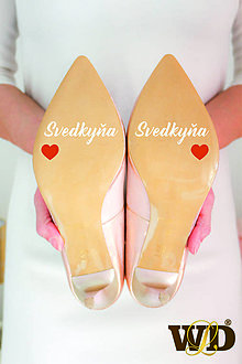 Papiernictvo - Nálepky na svadobné topánky - 13244168_
