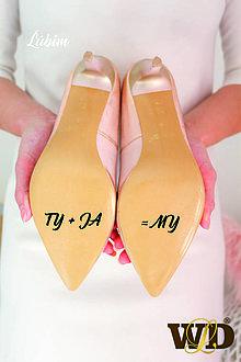 Papiernictvo - Nálepky na svadobné topánky - 13244171_