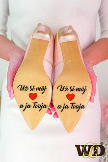 Papiernictvo - Nálepky na svadobné topánky - 13244175_