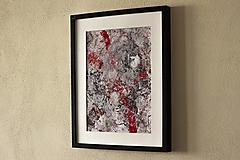 Obrazy - dospievanie krvou II. akryl na výkrese . A3 - 13246336_