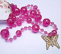 Náhrdelníky - Náhrdelník zlatý motýľ - 13242524_