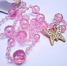 Náhrdelníky - Náhrdelník motýľ - 13242526_