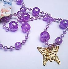Náhrdelníky - Náhrdelník motýľ - 13242532_