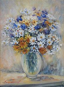 Obrazy - Malá záhradná kytica - 13243681_