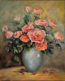 Obrazy - Ružové aristokratky - 13243699_