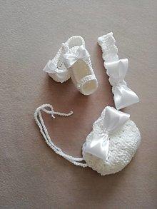 Detské čiapky - Supravička na krst - 13244938_