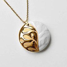 """Náhrdelníky - """"GoldMind"""" porcelánový přívěsek se zlatem - 13245003_"""
