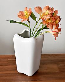 """Dekorácie - """"Shape"""" bílá porcelánová váza - 13245050_"""