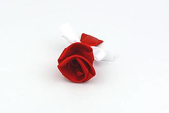 Pierka - Pierko červeno-biela ruža stredné - 13244750_