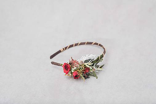 """Kvetinová čelenka """"s vášňou na perách"""""""