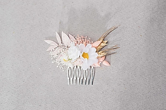 """Ozdoby do vlasov - Kvetinový hrebienok """"nežná margarétka"""" - 13244731_"""
