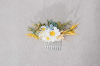 """Ozdoby do vlasov - Kvetinový hrebienok """"nebo nad margarétkou"""" - 13244754_"""