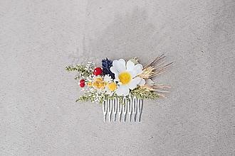 """Ozdoby do vlasov - Kvetinový hrebienok """"piesne v lupeňoch margarétok"""" - 13244773_"""