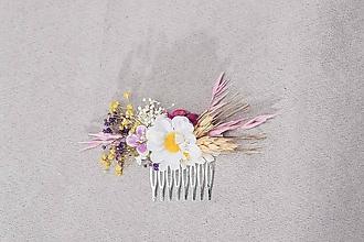 """Ozdoby do vlasov - Kvetinový hrebienok """"margarétková romanca"""" - 13244785_"""