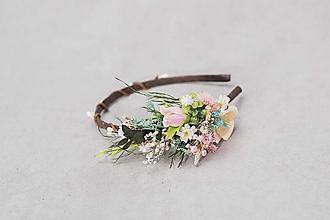 """Ozdoby do vlasov - Kvetinová čelenka """"príchod jari"""" - 13244985_"""