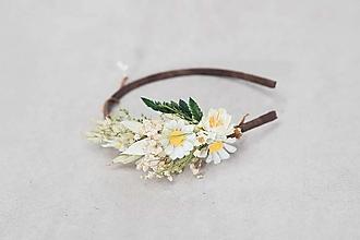 """Ozdoby do vlasov - Kvetinová čelenka """"ľúbi či neľúbi"""" - 13245018_"""