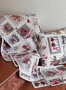 Úžitkový textil - Stredový obrus +obrúsky pod taniere - 13243758_