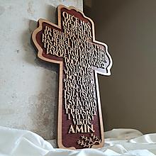 Dekorácie - Drevený Kríž s vlastným textom - 13243349_