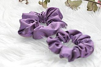 Ozdoby do vlasov - Hodvábna fialová gumička - 13242546_