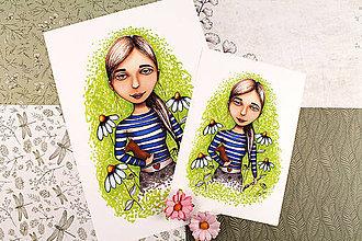 Kresby - ART Print Maliarka - 13243881_