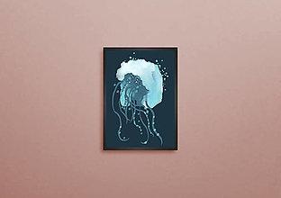 Grafika - Medúza Mel (Modrá ( pre dospelých )) - 13243630_