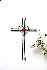 Dekorácie - Tepaný krížik 19,5 cm - 13245151_