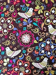Textil - Bavlnená látka Birds of Norway - 13248411_