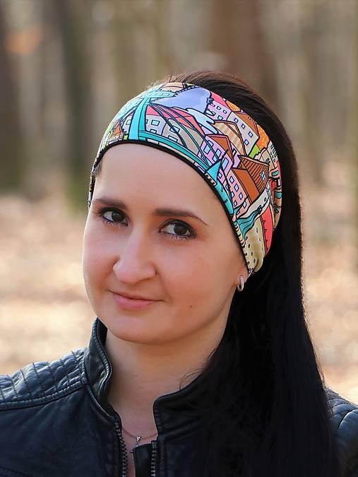 Úpletová antibakteriálna čelenka milujeme Slovensko farebná