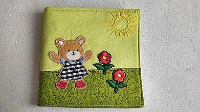 Hračky - Šteklivé slniečko - textilná knižka - 13249132_