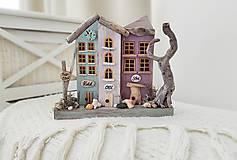 Dekorácie - Vintage dekorácia s domčekmi ,,Magic Street,, - 13246595_