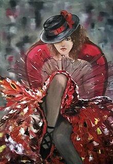 Obrazy - Baletka v klobúku - 13246496_