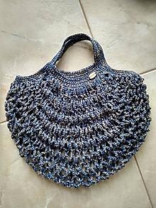 Nákupné tašky - Sieťovka modrá melír - 13250049_