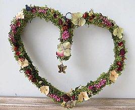 """Dekorácie - Kvetinové srdce """"Moria"""" - 13248742_"""