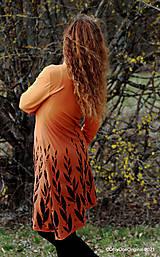 Šaty - Dámske šaty šité, batikované, maľované  ROSA - 13247290_