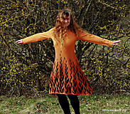 Šaty - Dámske šaty šité, batikované, maľované  ROSA - 13247295_