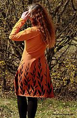 Šaty - Dámske šaty šité, batikované, maľované  ROSA - 13247341_