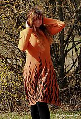 Šaty - Dámske šaty šité, batikované, maľované  ROSA - 13247365_