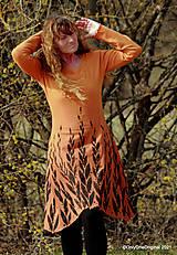 Šaty - Dámske šaty šité, batikované, maľované  ROSA - 13247415_