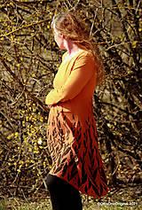 Šaty - Dámske šaty šité, batikované, maľované  ROSA - 13247423_